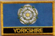 Yorkshire Embroidered Flag Patch, style 09.